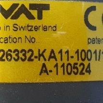 VAT 26332-KA11-1001 Right Angle Isolation Valve , USED