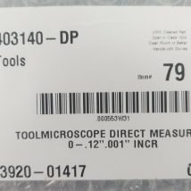 AMAT 3920-01417 TOOLMICROSCOPE DIRECT MEASURING, NEW