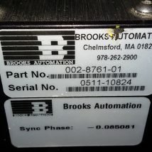 BROOKS AUTOMATION 017-0483-01R RELIANCE ROBOT with 002-8761-01, USED