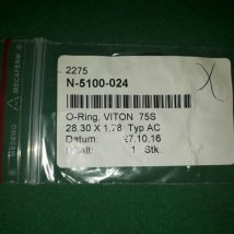 VAT N-5100-24 O-ring VITON 75S 28.30*1.78 Typ AC, NEW