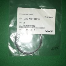 VAT N-5100-32 O-ring seamless treated Lot of 2, NEW