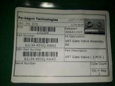 VAT 61234-KEGQ-AWX2 VAT Gate Valve, NEW
