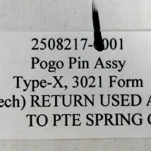 TOKYO ELECTRON 2508217-0001 POGO PIN ASSEMBLY, NEW