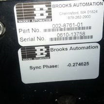 BROOKS AUTOMATION 121655 RELIANCE ROBOT with 002-8761-01, USED