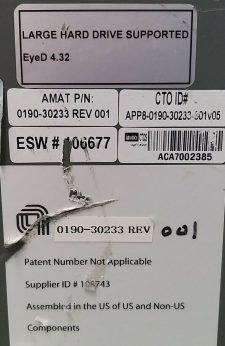 AMAT 0190-30233 LARGEHARD DRIVE SUPPORTED EyeD 4.32