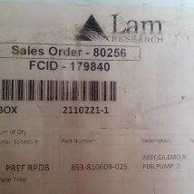 LAM RESEARCH 853-810609-025 ASSY, CA, EMO, RPDB, PUMP, 2 , NEW