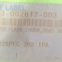 LAM RESEARCH 713-002617-003 WDO, POLYCARB, CHMBR,DUAL SEAL,2, NEW
