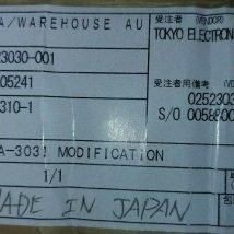 TOKYO ELECTRON FE22310-1 ALPHA-303I MODIFICATION, NEW