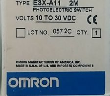 OMRON E3X-A11 PHOTOELECTRIC SWITCH, NEW