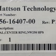 MATTSON 456-16407-00 SEAL, CENTER RING, NW250 HPS, NEW