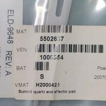H2000420 SUMMLT QUARTZ END EFFECTOR PAD, NEW