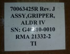 BROOKS 70063425R REV J ASSY,GRIPPER, ALDR IV, NEW