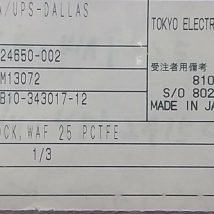 TOKYO ELECTRON 1B10-343017-12 BLOCK, WAF 25 PCTFE, NEW
