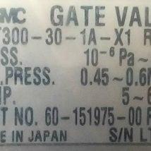 NOVELLUS 60-151975-00 SMC GATE VALVE XGT300-30-1A-X1 , NEW