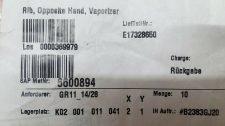 VARIAN E17328650 RIB, OPPOSITE HAND, VAPORIZER, NEW