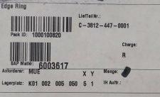 EBARA C-3812-447-0001 Stop Edge Ring (G2), NEW