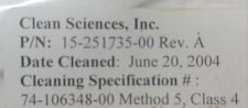 NOVELLUS 15-251735-00 SPINDLE BLANK-OFF, C3 ALTUS, REFURBISHED