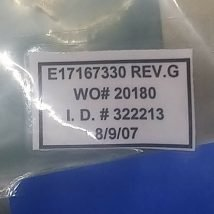 VARIAN E17167330 PLATE, GROUND, NEW