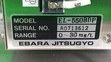 EBARA JITSUGYO EL-550BDP RANGE 0 ~ 30mg/ L SN A0713612, USED