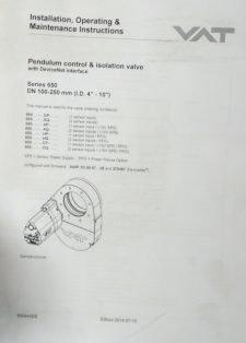 VAT 65048-PAHP-0002/0929 Vacuum Pendulum Control Valve Series 650, NEW