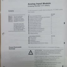 ALLEN BRADLEY 1771IFE ANALOG INPUT MODULE, NEW