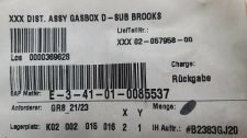 NOVELLUS 02-057958-00 GAS BOX DIST, BROOKS D-SUB, NEW