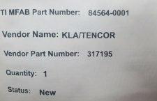 KLA TENCOR 317195 ROBOT DISTRIBUTION BOARD, NEW