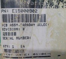 VARIAN E15000902 PCB ASSY I/V CONVERTER FARADAY SELECT BOARD, NEW
