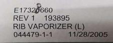 VARIAN E17328660 RIB, VAPORIZER, NEW